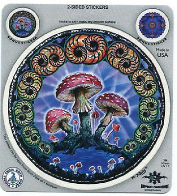 Mushroom Mandala  Decal Sticker 4.5""