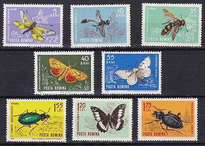 Insects 1964 Romania MNH Butterfly Beetle