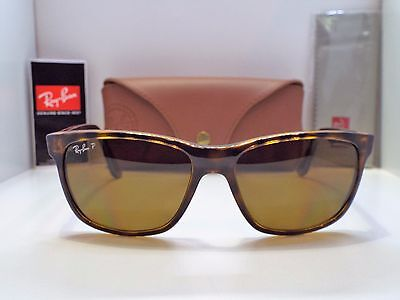 Authentic Ray-Ban RB 4181 710/83 Tortoise Brown B-15 Polarized Sunglasses $220