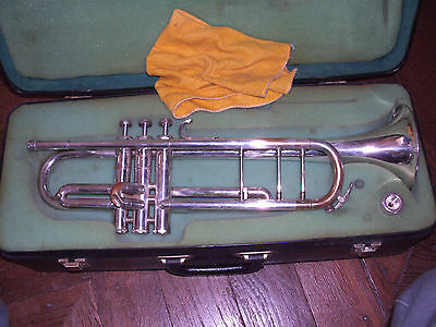 TROMPETTE DOLNET UNIVERSAL PARIS - VINCENT BACH - TRUMPET ANTIQUE OLD mouthpiece