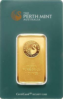 Perth Mint  1oz  Gold Coated Bar (not solid) - Kangaroo Style Back