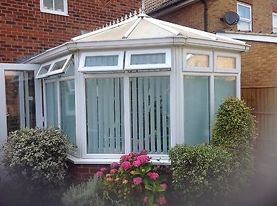 Used Victorian style conservatory, white UPVC