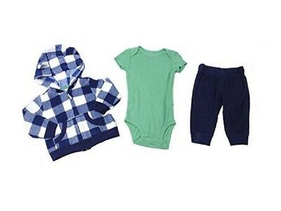 6b2b7a3cc8b5 CARTERS BABY BOY Size 6 Months Fleece 3-Piece Jacket Bodysuit Pant ...