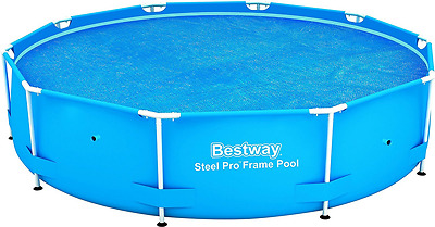 10ft Solar Pool Cover Blue Bestway Fits 10 Feet Steel Pro Frame Swimming Pools