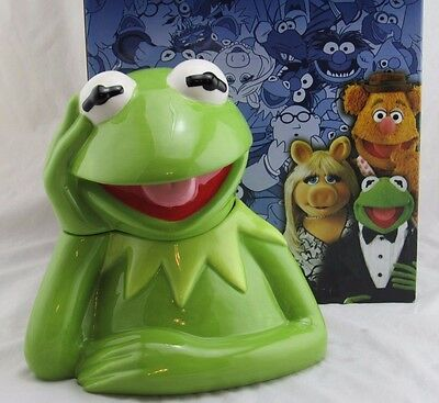 "Disney Westland Giftware The Muppets ""Kermit the Frog"" Cookie Jar New in Box"