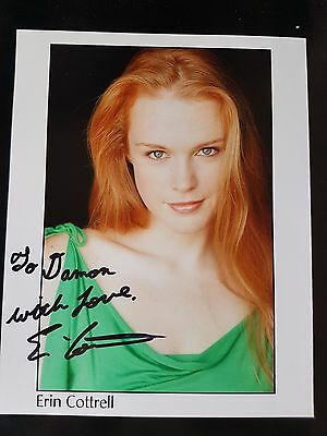 Erin Cottrell Actress Signed Autographed Auto 8x10 Photo w/coa