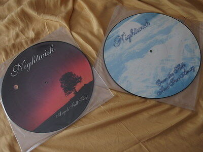 Nightwish Picture LPs Vinyl When Angels fall first Over the Hills and far away