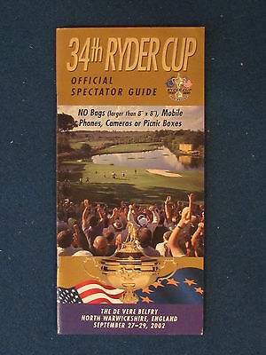 Ryder Cup 2002 - Spectator Guide - Held at The Belfry