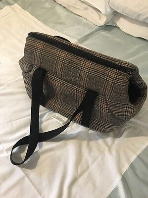 Ouluoyasi Dog Carrier Padded Tartan Shoulder Strap Pet Carrier Small Puppy Cat