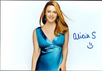 Alicia Silverstone Actress Clueless Signed Autographed 4x6 Photo w/coa