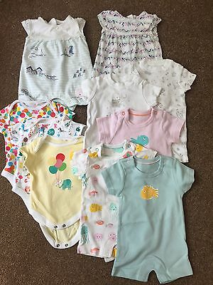 Bundle of Newborn Baby Girl Summer Rompers & Vests - Up to 1 Month M&S & NEXT