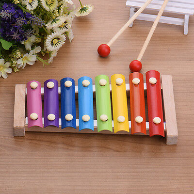 Children Kids Toys 8 Musical Scale Xylophone Piano Wooden Instrument Marimba
