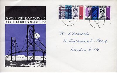 GB First Day Cover 6th September 1964 Forth Road Bridge