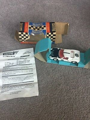 Scalextric Vintage Race Tuned C77 Ford GT with original box and Instructions