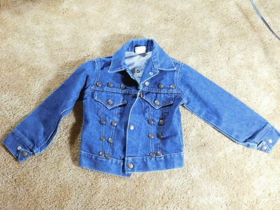 Levi's Orange Tag Vintage Boys Denim Jean Jacket Unique Extra Snaps Boys 5