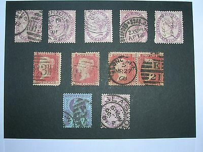GB STAMPS - Collection of 11 Used Queen Victoria Stamps