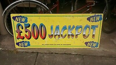 fairground sign double sided