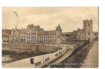 Aberystwyth. University and New Parade. Posted in 1914.