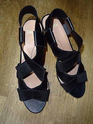 CAMPER  Women`s Black  Shoes Vedges Sandals  , Size 39 / UK 6 , Excellent cond.