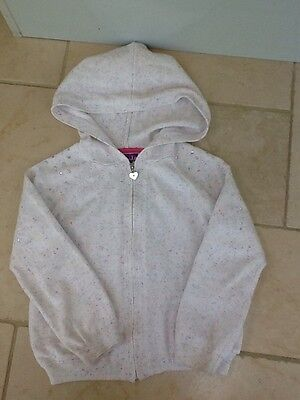 Girls Sparkly White With Multi Fleck Zip Cardigan Aged 4-5 Years