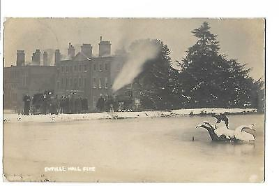 Enville Hall Fire. R/P. Posted in 1904. Stourbridge Fire Engine. Disaster.