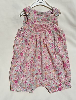 Next Gorgeous Ditsy Floral Smocked Summer Playsuit 6-9 Mths Beautiful!