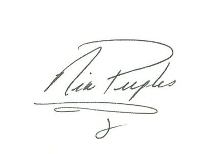 Nia Peeples Singer Signed Autographed 3x5 Index Card w/coa