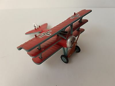 """1917 RED BARON FOKKER Dr.1425/17  DIECAST AIRPLANE NO BOX NO STAND 4"""" WINGSPAN"""