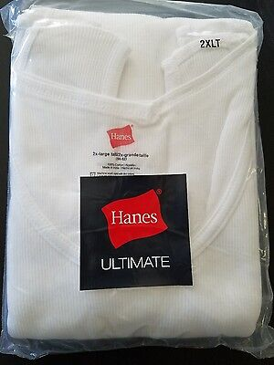 Hanes Mens Tank Tops White *pack Of 3* Large Tall Sizes New In Package