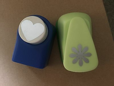 Craft Hole Punch Scrap Booking Cutter - Snowflake and Heart