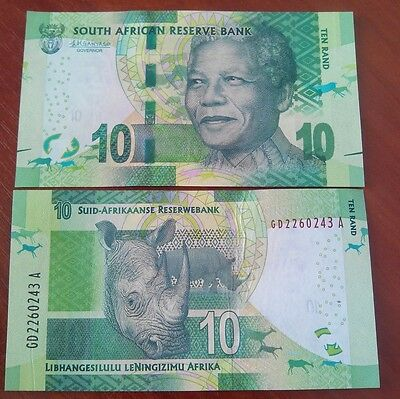 South Africa - 10 Rand 2015 UNC Mandela Peski-Zp