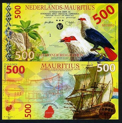 Netherlands Mauritius, 500 Gulden, 2016, Private Issue POLYMER, UNC Uncirculate