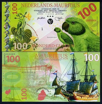 Netherlands Mauritius, 100 Gulden, 2016, Private Issue POLYMER, UNC Uncirculate