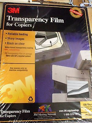Transparency Film Sheets For Plain Paper Copiers - 3M - 100 Count Sealed Box