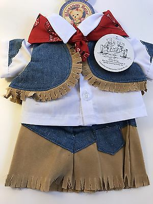 "BLUE JEAN TEDDY BEAR BJT Blossom Giddy Yap Outfit FITS 13"" plush Clothes NEW"