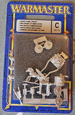 Warmaster Dwarf Flame Cannon pack ... new