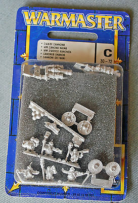 Warmaster Dwarf Cannons. 1 brand new blister