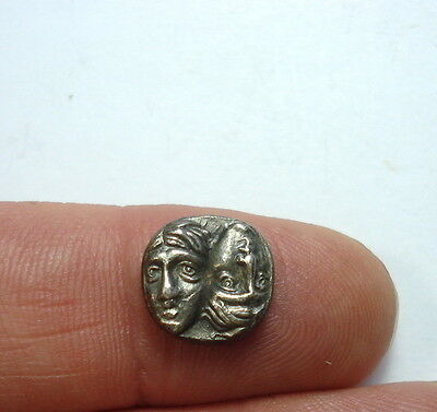 Greek silver coin, diobol, Rare
