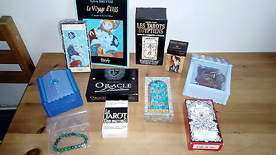 Lot tarot divinatoire , oracle , encens