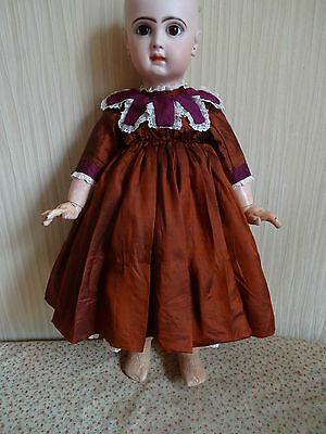 beautiful silk dress for French or German doll