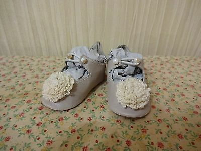 beautiful leather shoes for French or German doll
