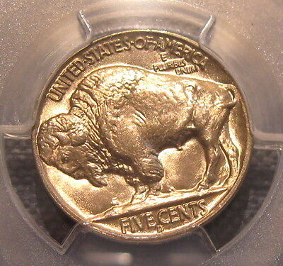 Gem Bu 1938-D Buffalo Nickel Pcgs Ms 66