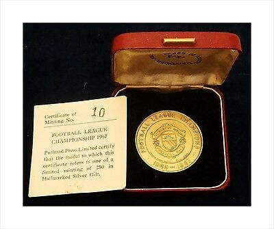 Sterling Silver Limited Edition Manchester United Football Medal. Champions 1967