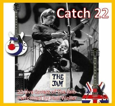 """Paul Weller Rare CD - """"THE JAM CATCH 22"""" - PW Plays The Jam Inc Fred Perry Pin"""
