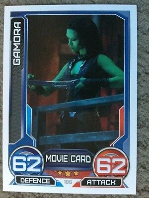 marvel guardians of the galaxy hero attax trading card gamora number 185