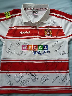 Wigan Warriors Signed Shirt x25 - Rugby Autograph, Tomkins, 2017 Squad, Burgess
