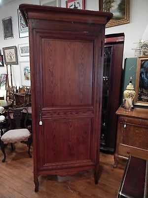 Antique French Cabinet Armoire Bonnetiere SLIM Linen Closet
