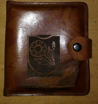 """GERMAN WWII Kavallerie Division der """"Maria Theresia"""" leather cigarette case"""
