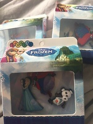 3 Disney Frozen Croc Shoe Charms