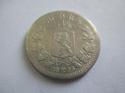 Norway 50 Ore 1895. Silver